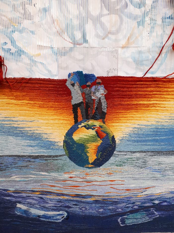 Climate Refugees: detail of work in progress